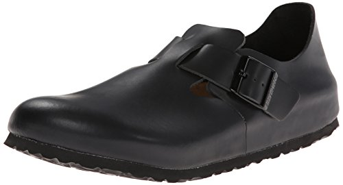 - Birkenstock Unisex London SFB Leather Mule,Hunter Black,38 EU/L7 M US