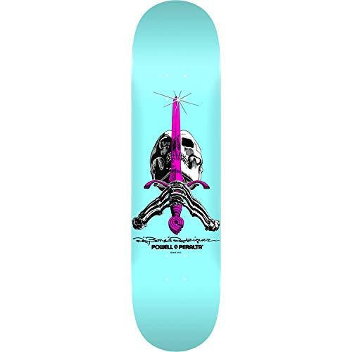 Blue Skull Skateboard - Powell-Peralta Skull & Sword Pastel Blue Skateboard Deck - 8