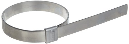 BAND-IT JS3349 Junior 1/2'' Wide x 0.030'' Thick, 3'' Diameter, Galvanized Carbon Steel Smooth I.D. Clamp (100 Per Box) by Band-It