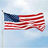 Cheap American Flag With Embroidered Stars and Sewn Stripes 5 ft. x 8 ft.