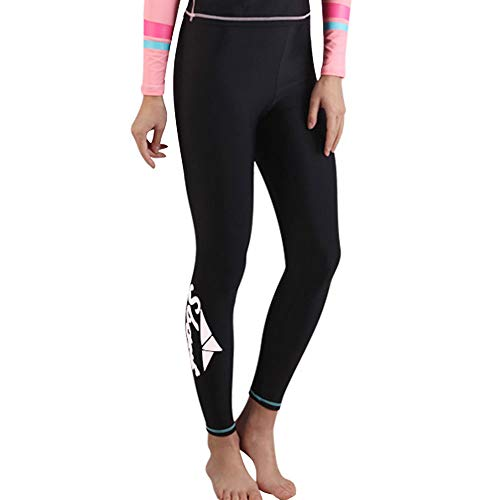 EVEDESIGN Women's High Waist Surfing Leggings Sun Protective Long Swimming Tights Pants Tummy Control Snokeling Diving Rash Guard Scuba Wetsuit Pants]()