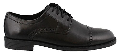 Cole Haan Men's Ross Dustin Cap Brogue Oxford, Black, 8 Medium US (Rounded Toe Oxford Shoes)