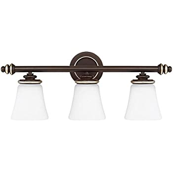 Champagne bronze asher 3 light bathroom vanity light - Champagne bronze bathroom vanity light ...
