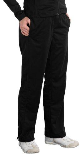 Sport-Tek Ladies Tricot Track Pant, Black, 1X