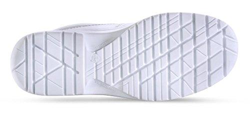 ClickFootwear Micro fibra para trabajo zapatos S2 blanco