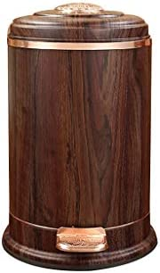滑らかな表面 レトロなゴミ箱収納ボックス、蓋リビングルームアパートメントバルコニーサロンごみ箱ステンレス製ペダルゴミ箱 リサイクル可能なデザイン (Color : B, Size : 12L)
