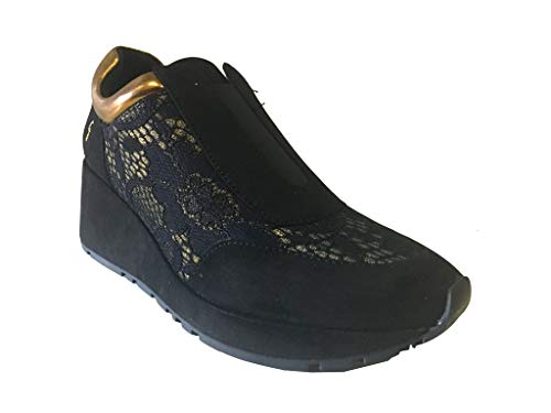 Gattinoni Logo gold Con Black Mini Sneaker OrwOtqF