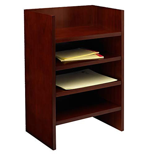 Mayline MLTMC Mira Desk, Medium Cherry Veneer