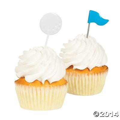 Golf Party Food Cupcake Picks