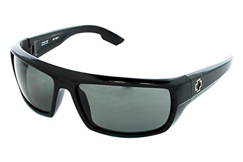 Spy Optic Bounty 673017038135 Polarized Wrap Sunglasses,Black Frame/Grey Polarized Lens,One - Bounty Spy Sunglasses