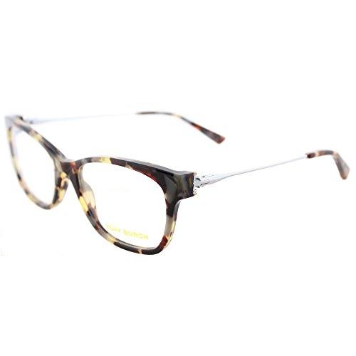 Tory Burch TY 2063 1559 Porchini Tortoise Silver Plastic Square Eyeglasses - Tory Eyeglass Burch Case