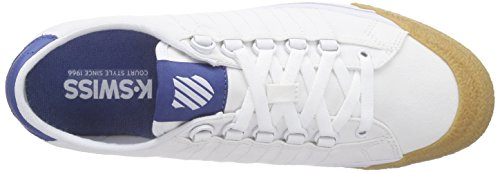 K-Swiss Herren Irvine T Low-Top Weiß (White/Brunner Blue/Dark Gum)