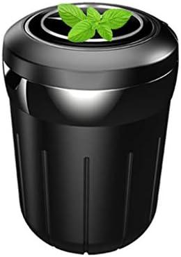 車の灰皿多目的、メルセデスベンツとの互換性、ふた付きすす収納缶車内旅行 (Color : 黒)