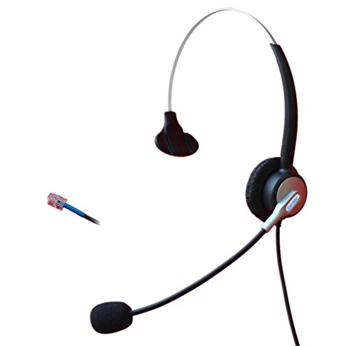 Comdio H303C5 Mono Call Center Telephone Headset Headphone with Mic for Cisco IP Phones 7940 7941 7942 7945 7960 7961 7962 7931G 7962G 7965G 7970G 7971G and Plantronics M10 M12 Vista Modular Adapters