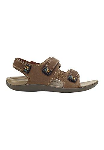 Belldilar Walk Support 2 Härte Level Zwischensohle, 3-Strap Sport Slingback Sandale für Männer Kakee