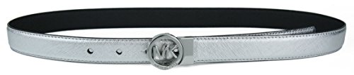 MICHAEL Michael Kors Womens Reversible Belt - (Metallic Reversible Belt)