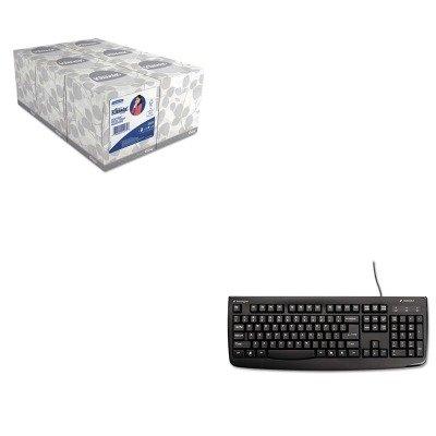 Usb Washable Keyboard - KITKIM21271KMW64407 - Value Kit - Kensington Pro Fit USB Washable Keyboard (KMW64407) and KIMBERLY CLARK KLEENEX White Facial Tissue (KIM21271)