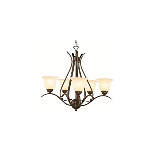 Transglobe Lighting 70396 PC Chandelier with White Linen Shades, Polished Chrome Finish by Trans Globe Lighting