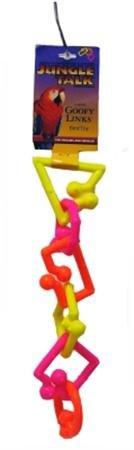 - Jungle Talk Goofy Links Plastic Bird Toy (Neon, Large)