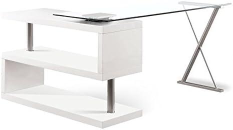 Furniture of America Fiora Modern Swivel Metal Computer Desk