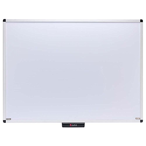 Clear Overlay White (Justick by Smead, Premium Aluminum Frame Electro Dry-Erase Board with clear overlay, 48