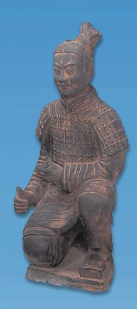 """Terra Cotta Kneeling Archer Warrior Statue 14"""" Chinese Army"""