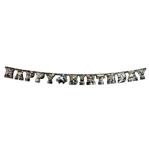 Military Army Camo Happy Birthday Banner (Large, 7