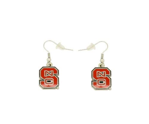- aminco NCAA Dangler Earrings, North Carolina State Wolfpack