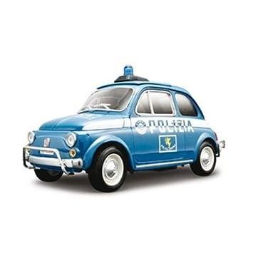 Bburago 18 12067 Gold Collezione 1 18 Fiat 500 Polizia Amazon Co