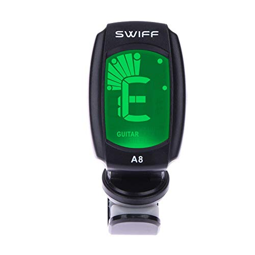 STORE-HOMER - 3V A8 Chromatic Tuner Chromatic Clip-On Tuner for Acoustic Electric Guitar Bass Violin Auto Tuning Clip-On Music Accessories
