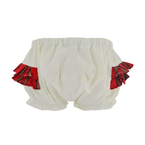 Carriage Boutique Baby Girls Diaper Cover Panties White Holiday Plaid