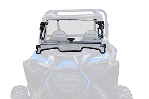 (SuperATV Heavy Duty Scratch Resistant 3-IN-1 Flip Windshield for Polaris RZR XP 1000 / XP 4 1000 (2019+) - Has 3 Different)