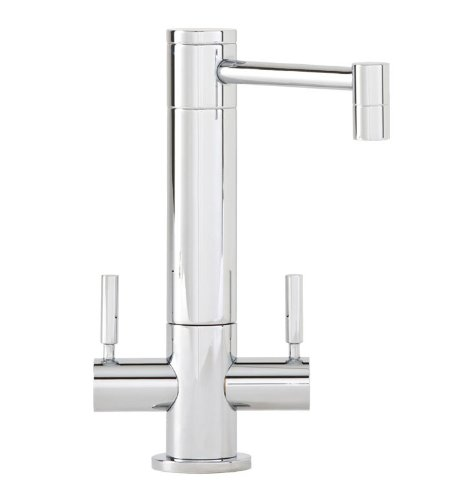 (Waterstone 1900HC-CH Hunley Filtration Faucet Hot and Cold Double Handle, Chrome)