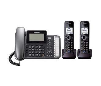 Panasonic KX-TG9581B 1.9GHz DECT 6.0 Technology 2-Line Expandable Corded/Cordless Phone Combo (2 Handset)