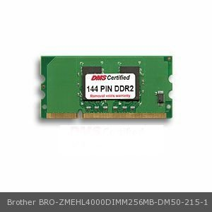 - DMS Compatible/Replacement for Brother ZMEHL4000DIMM256MB HL 5440D 256MB DMS Certified Memory 16 Bit DDR2 144 PIN SODIMM - DMS