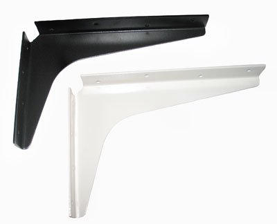 Cantilever support brackets 24 white white us760 for Cantilever counter support