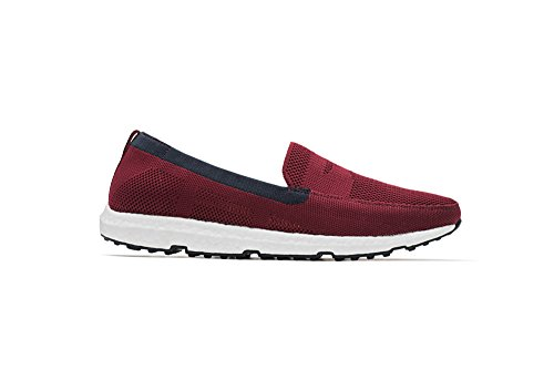SWIMS Breeze Leapknit Loafer - Deep Red/Navy, Size 8 by SWIMS