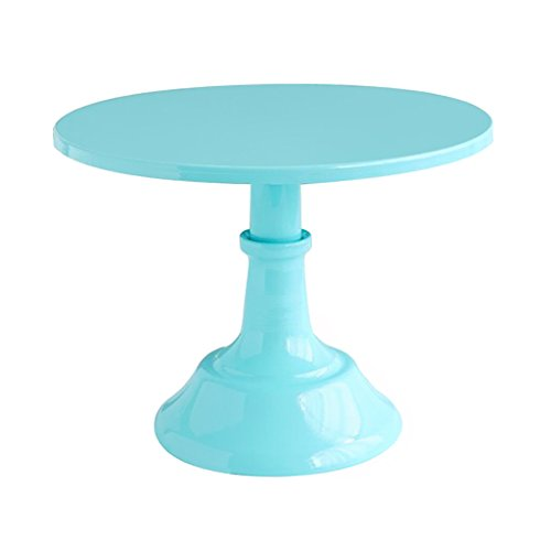 Blue Compote - B Blesiya Round Cake Stand Metal WHITE Modern Dessert Wedding Birthday Party Compote, The simple design decorative pattern, fashionable and beautiful - Blue