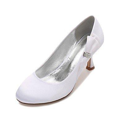 El mejor regalo para mujer y madre Mujer Zapatos Satén Primavera Verano Confort Zapatos de boda Tacón Kitten Tacón Bajo Tacón Stiletto Dedo redondo Pedrería Pajarita Flor , us6 / eu36 / uk4 / cn36