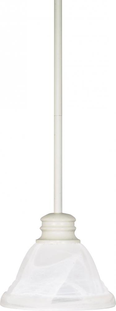 Nuvo Gothamシャンデリア 60/368 1 B00397HXBK Textured White / Alabaster Glass|ミニペンダント Textured White / Alabaster Glass