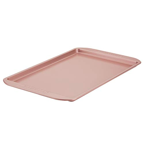 (Farberware Nonstick Bakeware Cookie Pan, 11-Inch by 17-inch, Rose Gold)