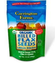 Carrington Farms Organic Milled Flax Seed, 14 Ounce - 6 per case. by Carrington Farms