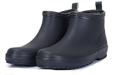 Amazon.com | Men Premium Rubber Ankle Short Rubber Boots