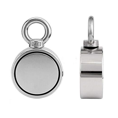 BianchiPamela 200//300//500Kg Double Single Side Neodymium Metal Magnet Detector Fishing+Rope