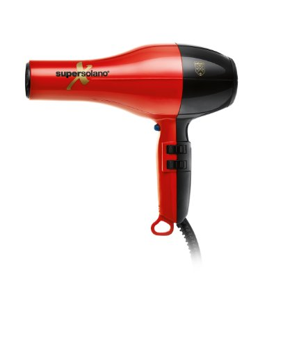 Solano SuperSolanoX Professional Hair Dryer, Red/Black