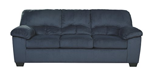 Fabric Upholstered Queen Sleeper (Ashley Furniture Signature Design - Dailey Full Sofa Sleeper - Contemporary Upholstered Couch with Pull Out - Midnight)