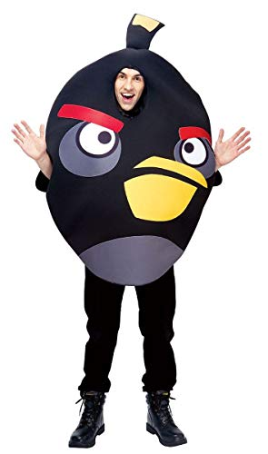 Paper Magic Unisex - Adult Angry Birds Costume, Black, One -