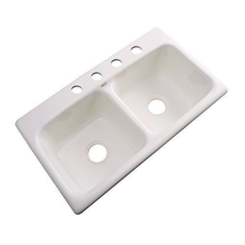 DEKOR Sinks 64401 Englewood Cast Acrylic Double Bowl Kitc...