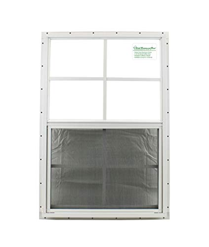 Shed Windows and More 21 X 27 Shed Window Safety Glass Storage Shed Garages Playhouse Tree House White J-Channel