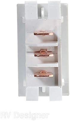 RV Designer Collection S273 Brown 10 Amp Rocker Switch